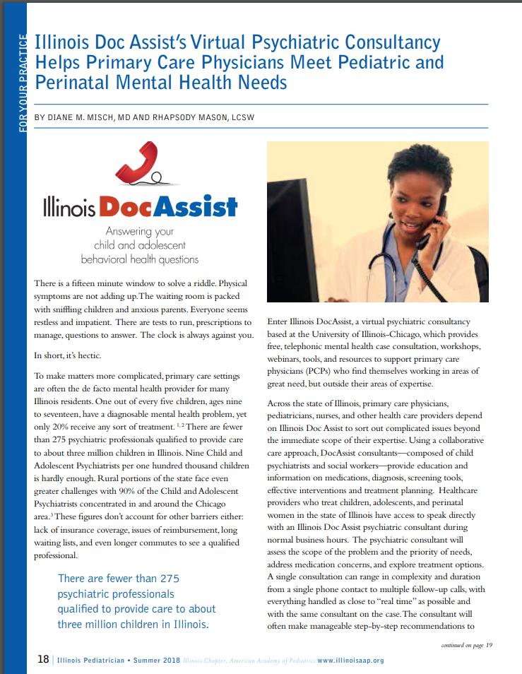 In the news: Illinois DocAssist article featured in Illinois Pediatrician